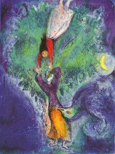 So she came down from the tree... By Marc Chagall, 1948