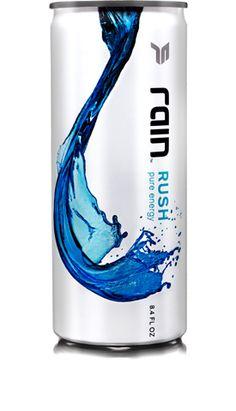 all natural energy drink. rain.