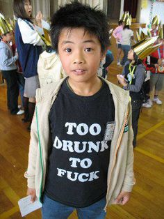 Too young to be drunk in the first place. #Engrish