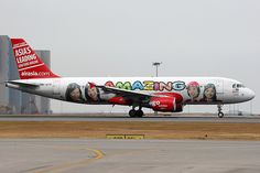 AirAsia, Airbus A320-200, 9M-AFP, AMAZING / 3000th A320 livery, Hong Kong International
