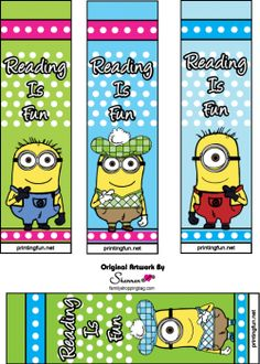 despicable me printables printable bookmarks printable book marksfree - Free Printable Books For Kids