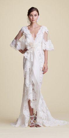 Marchesa Fall 2018 Bridal Collection - Wedding Dresses #bridalgown #weddinggown #weddingdress #bridedress