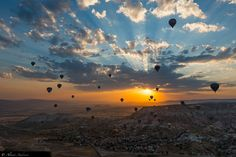 Balloons at dawn in Cappadocia. Taken from another balloon at about 500 meters. Get in touch:   FB Page // Website // Buy Fine Art Prints  // Workshop For use in website, contact me here.