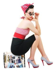 Pin up girls - like the pose on the suitcase with the glasses... With a dress??
