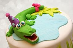 Un cocodrilo para Julia alligator cake