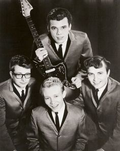 Cover photo of Minneapolis surf rockers The Trashmen from their Bird Dance Beat album, their follow-up to Surfin' Bird. Steve Wahrer (front) was responsible for the raspy vocal on Surfin' Bird