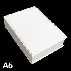 A5ブック型ケース(ホワイト)【monotone モノトーン 収納 洋書 インテリア 雑貨 シンプル】