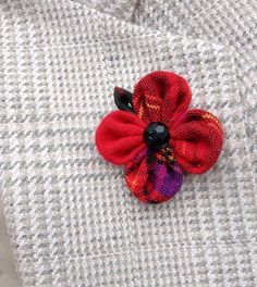 Custom Lapel Pins Mens Lapel Pin Flower Lapel Pin Red Poppy Lapel Veterans Day Remembrance Kanzashi Brooch Plaid Boutonniere Gift For Him by exquisitelapel on Etsy https://www.etsy.com/listing/250217846/custom-lapel-pins-mens-lapel-pin-flower