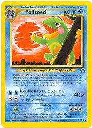 Pokemon Neo Discovery Card 27 - Politoed Card $15.00-$20.00