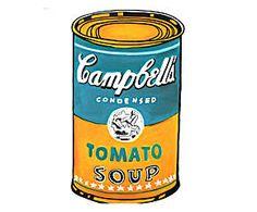 Lienzo pintado a mano sobre tela Campbell's Tomato Soup II - 50x60