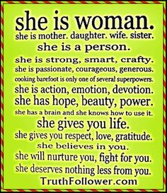 I am woman hear me roar!