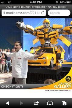 Bumblebee Transformers Cake Boss Cake