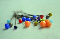 Set of 6 lampwork glass bead headpinsyou pick the by stargirljoolz, $7.50