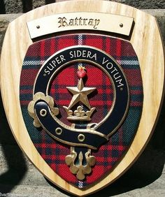Rattray Family Clan Crest Wall Plaque Brand New And Boxed