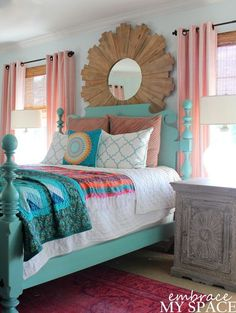 Colorful rooms are so fun! They are bright, happy, and extremely inviting. Sometimes it can be a little nerve wracking to even think about adding lots of color to a room. Especially a master bedroom! You want all those pops of color, but also want it to all work together. This list of colorful master …