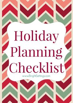 Keeping organized can be key in avoiding holiday stress. Here is a step by step holiday planning checklist to help keep your season merry! Christmas Tress, Christmas Love, Christmas And New Year, Christmas Decorations, Holiday Decor, Winter Holidays, Christmas Holidays, Winter Time, Happy Holidays