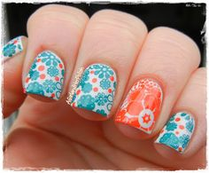 A And Her Polish Sunday Stamping Inspired By The 70s Nail