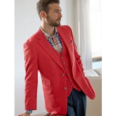 Red Herringbone Pure Cotton Sport Coat | Paul Fredrick. My most recent purchase from Paul Fredrick, the jacket and the vest.