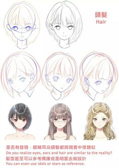 Fantasting Drawing Hairstyles For Characters Ideas. Amazing Drawing Hairstyles For Characters Ideas. Manga Drawing Tutorials, Manga Tutorial, Drawing Techniques, Digital Painting Tutorials, Digital Art Tutorial, Drawing Skills, Drawing Sketches, Drawings, Pelo Anime