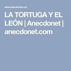 LA TORTUGA Y EL LEÓN | Anecdonet | anecdonet.com