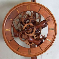 wooden clock | ... , creating beautiful handmade custom wood clocks from scratch