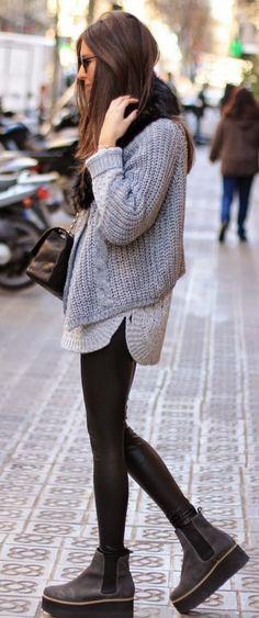 Grey Knit Trend.: .sabo skirt #grey