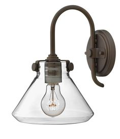 Buy the Hinkley Lighting 3176OZ Oil Rubbed Bronze Direct. Shop for the Hinkley Lighting 3176OZ Oil Rubbed Bronze 1 Light Indoor Wall Sconce with Clear Cone Shade from the Congress Collection and save.