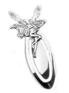 b2714098f2db2 Large Sterling Silver Fairy   Faery Bookmark - Gift for Booklovers