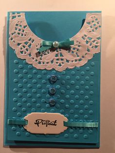 Cute use of paper doily Girl Birthday Cards, Birthday Cards For Women, Handmade Birthday Cards, Scrapbooking, Scrapbook Cards, Card Sentiments, Embossed Cards, Mothers Day Cards, Cards For Friends