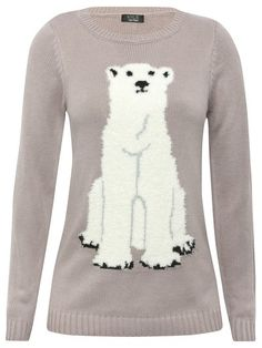 Teen intarsia polar bear jumper