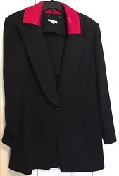 ♣☾ St.John Jacket  Womens 14 Tuxedo Style 100% Wool Black Reversible Sequin Collar http://ebay.to/1R1YW9b