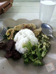 Nasi + Dendeng + Jamur (Vegan) - Kehidupan Tidak Pernah Berakhir