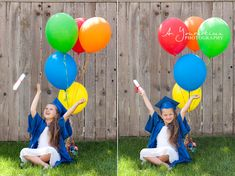 Kinder Kindergarten Preschool Pre-K grad graduation pictures. would be cute to do the same pose when they graduate high school and college....