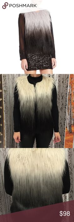 Fur vest Bcbgmaxazria ombré fur vest. Offers accepted. Only worn twice. Perfect condition BCBGMaxAzria Tops