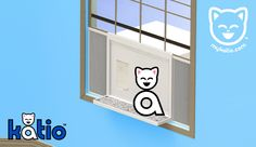 Katio™ is the #kitty litter box that goes in your window. #katio #cats http://mykatio.com