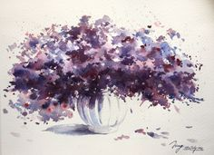 Purple (2015) Watercolor by Jing Chen | Artfinder