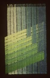 88/307 Lace piece, 'Country View', bobbin made, [linen]. Jana Slamova, Czechoslovakia, 1987 - Powerhouse Museum Collection