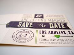 Playful Mid-Century Style Save the Dates