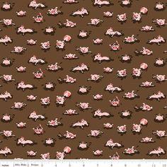 By the yard Harmony Farm Hogwash Green Flannel Fabric 100/% Cotton Flannel