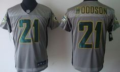 1d6ad424e7e Nike Green Bay Packers  21 Charles Woodson Gray Shadow Elite Jersey Charles  Woodson