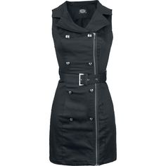 Zip Dress - Vestido por H&R London - Número Artículo: 278664 - desde 49,99 € - EMP tienda online de Camisetas, Merchandise, Rock, Heavy Meta...