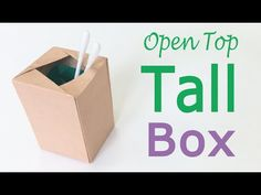 Origami Paper Open Top Tall Box ♪DIY♪ - Origami Kawaii - YouTube