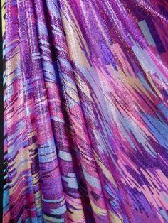 Hologram Rainbow Foil Stretch Spandex - 90s Pink Pop HMLYC206 PNMLT