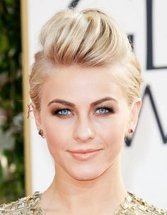 Short Hair via @byrdiebeauty: A pompadour works on short hair too. Julianne Hough wears it well. Learn how to do the look yourself by watching this tutorial!