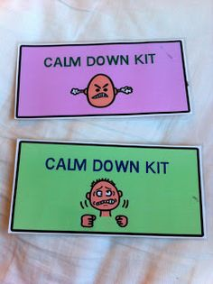 The Calm Down Kit - for students with behavioural difficulties