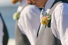 Sweet spring groomsmen boutonniere