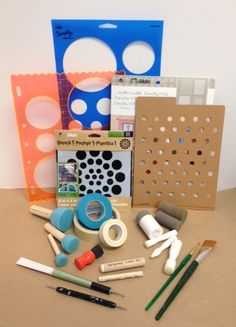 How to paint polka dots using a bunch of different tools! Super helpful. #plaidcrafts #DIY #crafts