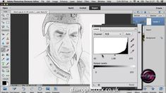 Creating a realistic Sketch effect in Elements and Photoshop (+playlist)