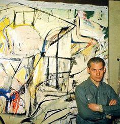 de Kooning in his studio