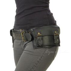 LEATHER BELT HIP BUM WAIST POUCH BAG Utility Fanny Pack Pocket Phone Travel #EyesofIndia #BeltBag #BeltBag